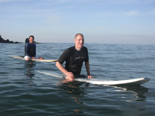 Surfing in the Channel Islands with Go Sea It Charters
